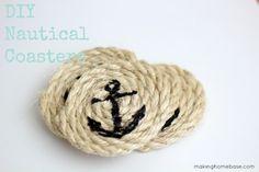 Make Sisal Rope Nautical Coasters