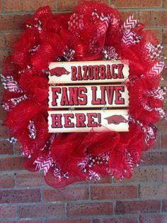 Arkansas Razorbacks wreath  on Etsy, $65.00