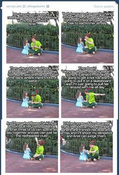 Peter wants to start a club with Ariel and Merida. This is seriously like the cutest thing ever.