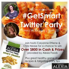 #GetSmart Twitter Party with over $800 in cash & prizes to be won!