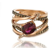 Chocolate diamond AND rose gold?  Yes, please.  http://www.levian.com/brandedbylevian/le-vian-chocolatier/