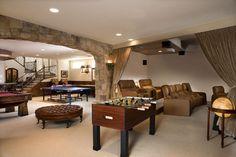 Billiards room on pinterest billiard room pool tables for Las vegas homes with basements