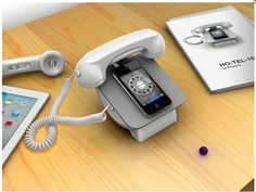 Please A Hipster, Turn Your iPhone Into A Rotary Phone With This Dock