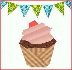 Cupcake Paper Pieced Block – Free Quilt Pattern @ PatternPile.com