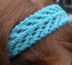 Beautiful knit lace headband.