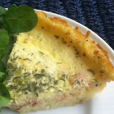 Eat • Write: Goat cheese and smoked salmon quiche has a hash-brown crust, making it gluten-free and perfect for Passover.