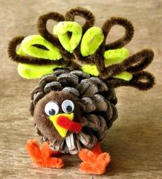 Pipe cleaner crafts for kids on pinterest pipe cleaners for Pipe cleaner turkey craft
