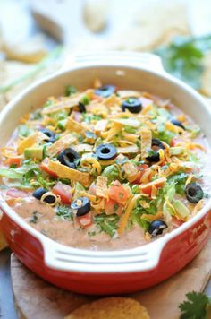 Skinny Taco Dip - 2 weight watchers pp