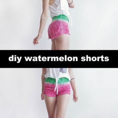 #DIY watermelon shorts by boat people vintage!