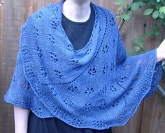 Lace design Maryland Mountains shawl.