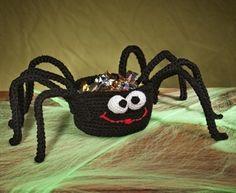 Spider Treat Basket #crochet #halloween