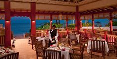 Cafe Goombay Restaurant at the Offshore Island at Sandals Royal Bahamian in Nassau, Bahamas