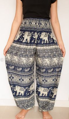 eleph pant, patterned harem pants, hippie pants, thailand pants, elephant pants