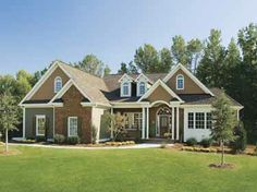 Home Plans HOMEPW07731 - 2,243 Square Feet, 4 Bedroom 2 Bathroom Cottage Home with 2 Garage Bays