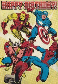 "Greeting Card Birthday Marvel Superheroes ""Happy Birthday"" by Greeting Cards - Birthday. $3.99. http://www.letrasdecanciones365.com/detailp/dpolw/Bo0l0w6RdPyQpGuDg2m.html"