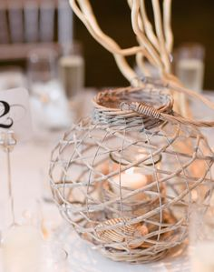 natural themed #wedding #candle