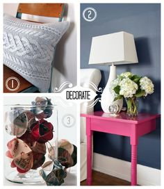 Decorate your home with things you already have! #upcycle #green #eco #frugal