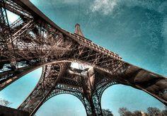 Eiffel Tower Photo Paris  A4 Fine Art Print by SeeSomethingYouLike, $24.95