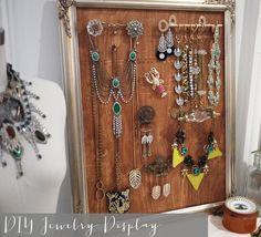 diy frame vintage jewelry display