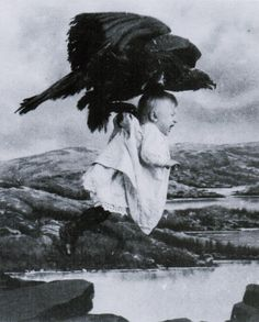 Still from Rescued from an Eagle's Nest, directed by J. Searle Dawley in 1908. The film is best remembered today as the debut of then-actor DW Griffith, prior to becoming a director.