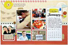 2012 Calendar Download for Scrapbooking