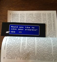 The Most Awesome Bookmark of All Time [Pic]