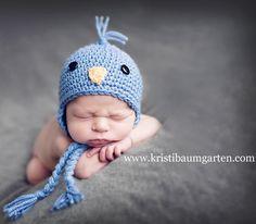 Cute blue bird hat!