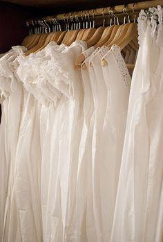 ♥ white cotton nighties
