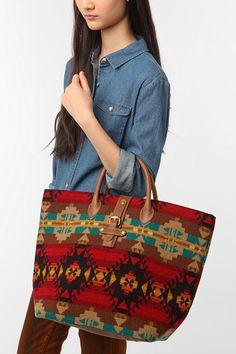 Pendleton Mixed Media Tote Bag