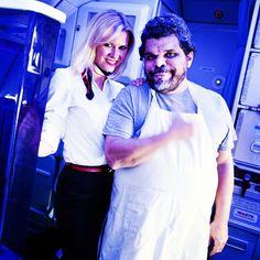 Actor Luis Guzman filming 'Departure Date' in-flight on Virgin America - what else have you seen him in?