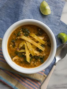 Kale, Barley, and Lentil Soup recipe from PBS Food