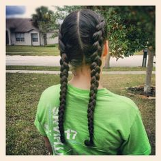 French Braid Pigtails On The Hunt