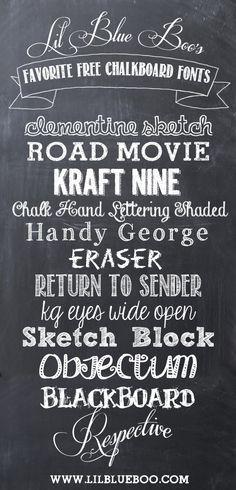 Lil Blue Boos Free Chalkboard Fonts