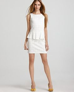 Perfect Peplum for the Summer Bride! Aqua Luxe Dress