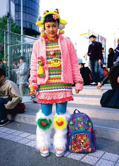 On weekends, the Harajuku neighborhood is thick with teenagers dressed up in mind-boggling and wholly original home-made outfits.