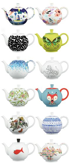Crate and Barrel Arzberg Teapots These are all AMAZING