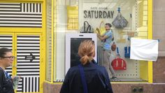 Kate Spade Saturday just launched a 24- hour digital pop-up shop; this omni-channel, 360-degree integrated campaign strengthens the new line while giving consumers another reason to fall in love with the brand (1-hour delivery, free returns, digital sidewalk purchasing). #Saturday #PopUpRetail #NYC pop up shops, brand board, popup shop, inspir popup, spade saturday, kate spade, popup fun