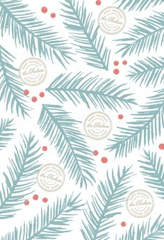 gift wrap - Blue Spruce by Hooray Creative