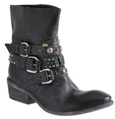 CO-OP Barneys New York Vintage Leather Studded Buckle Ankle Boot