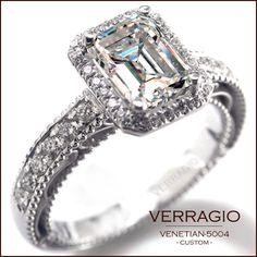 Verragio Engagement Ring, Emerald Cut