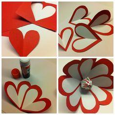 Heart Lollipop Flower Valentine's Craft