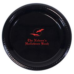 Personalized Spooky Plastic Plates