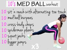 10's Med Ball Workout