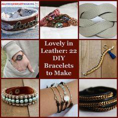 Lovely in Leather: 22 DIY Bracelets to Make