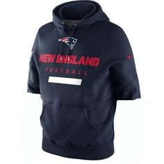 Official New England Patriots ProShop - Nike Property of Patriots Hood-Navy w/Cut Sleeves