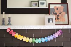 Paint Chips Easter Garland... by www.ohdeedoh.com