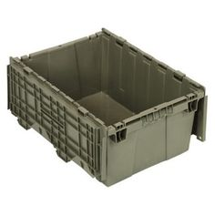Storage bin (not rain-proof due to fold-down lid): Quantum Attached Top Container - 21.5W x 15.25D in.