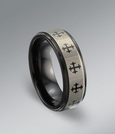 Cross Tungsten Ring