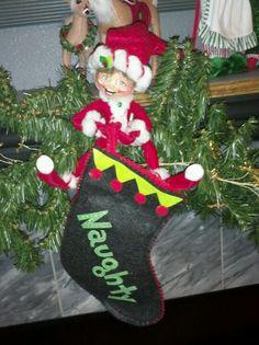 AnnaLee elf on the mantle