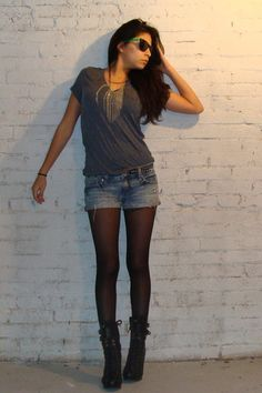 tights with shorts -